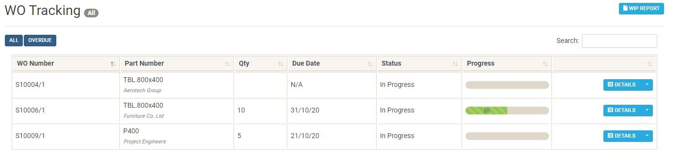 Works order tracking